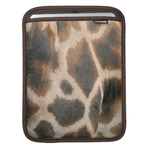 Giraffe Print Pattern iPad Sleeve