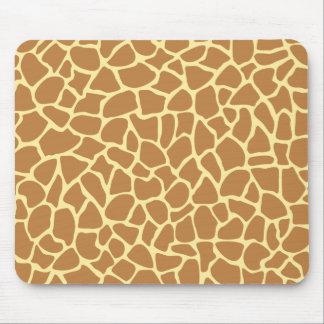 Giraffe Print Pattern Mousepad