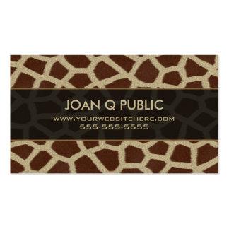 Giraffe Print Pattern Pack Of Standard Business Cards
