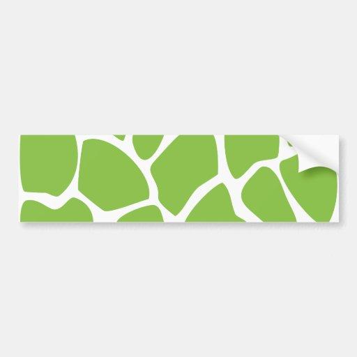 Giraffe Print Pattern. Safari Green. Bumper Stickers