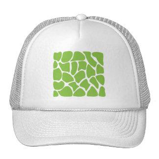 Giraffe Print Pattern. Safari Green. Cap