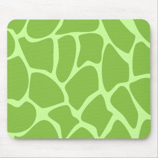 Giraffe Print Pattern Safari Green Mouse Pad