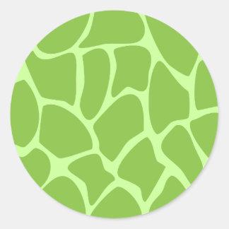 Giraffe Print Pattern Safari Green Stickers