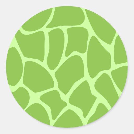 Giraffe Print Pattern. Safari Green. Stickers