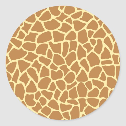 Giraffe Print Pattern. Sticker