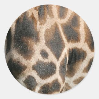 Giraffe Print Pattern Stickers