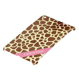 Giraffe Print Personalized iPad Mini Case