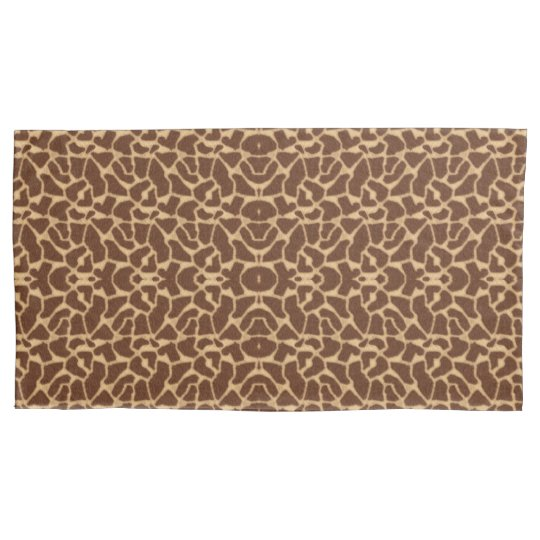 Giraffe Print Pillowcase
