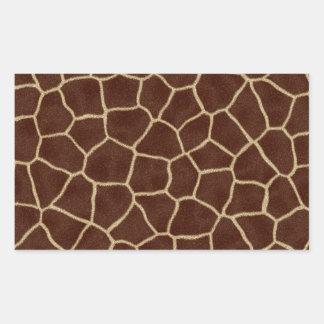 Giraffe Print Rectangular Sticker