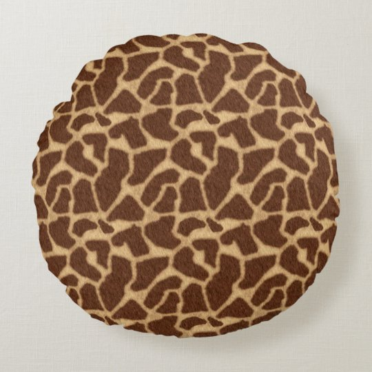 Giraffe Print Round Cushion