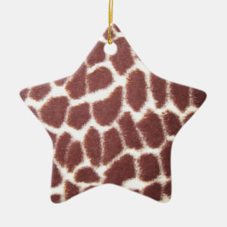 Giraffe Print Star Christmas Ornament