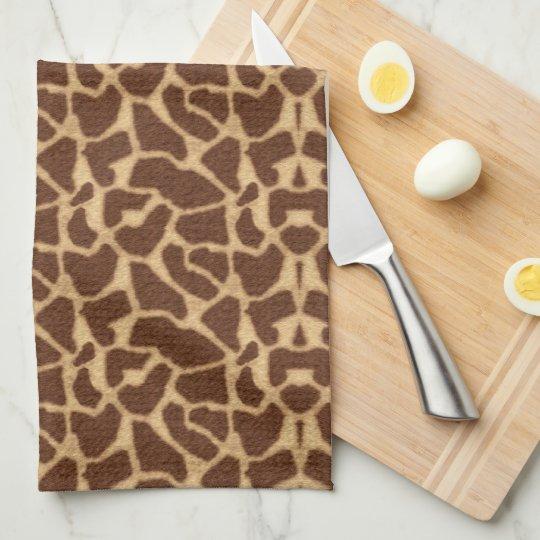Giraffe Print Tea Towel