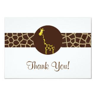 Giraffe Print Thank You Card