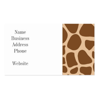 Giraffe Print Wild Animal Patterns Gifts for Her Pack Of Standard Business Cards