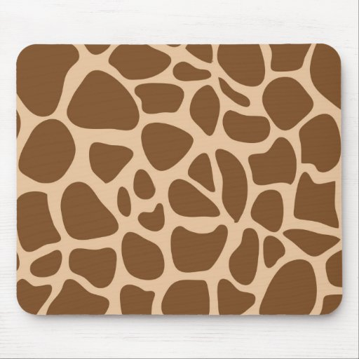 Giraffe Print Wild Animal Patterns Gifts for Her Mousepads