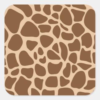 Giraffe Print Wild Animal Patterns Gifts for Her Square Sticker