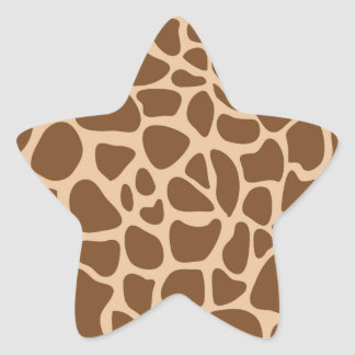 Giraffe Print Wild Animal Patterns Gifts for Her Star Sticker