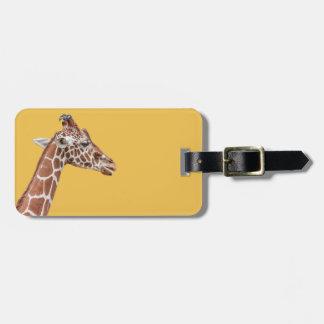 Giraffe profile luggage tag