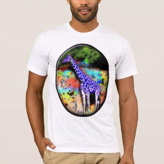 Giraffe Purple Psychedelic T T-Shirt