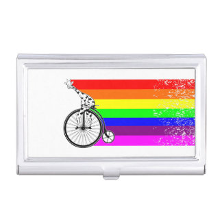 Giraffe Rainbow Bike Business Card Holder