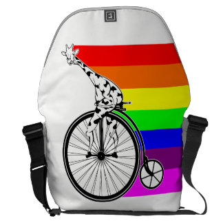 Giraffe Rainbow Bike Commuter Bags