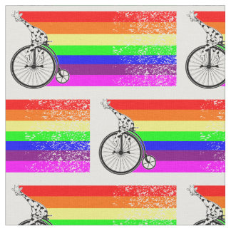Giraffe Rainbow Bike Fabric