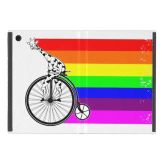 Giraffe Rainbow Bike iPad Mini Case