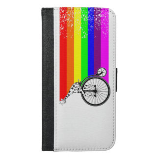 Giraffe Rainbow Bike iPhone 6/6s Plus Wallet Case