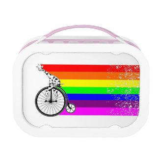 Giraffe Rainbow Bike Lunch Box