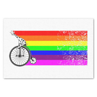 Giraffe Rainbow Bike Tissue Paper