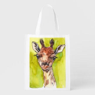 Giraffe Reusable Grocery Bag