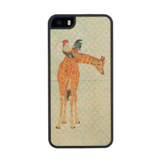 Giraffe & Rooster Wooden Phone Case Carved® Maple iPhone 5 Case