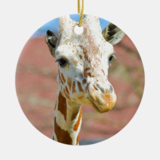 Giraffe Round Ceramic Decoration