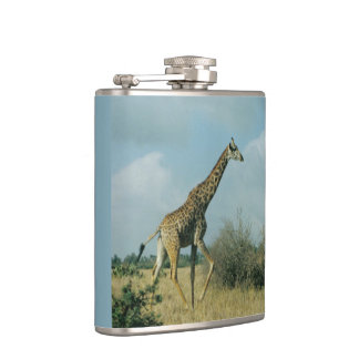 Giraffe Running Hip Flask
