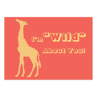 Giraffe School Kids Valentines Day Cards in Bulk Pack Of Chubby Business Cards