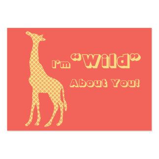 Giraffe School Kids Valentines Day Cards in Bulk Business Cards