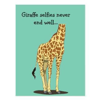 Giraffe selfies never end well... postcard
