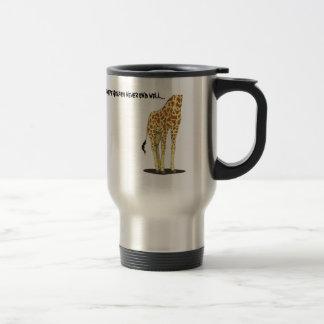 Giraffe Selfies Stainless Steel Travel Mug