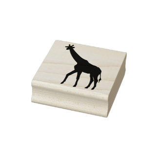 giraffe silhouette art stamp