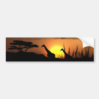 Giraffe Silhouette - Blank for your own message Bumper Sticker