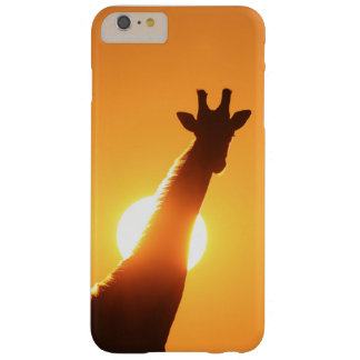 Giraffe Silhouette of Gold Barely There iPhone 6 Plus Case