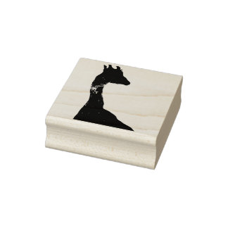 Giraffe Silhouette Stamp