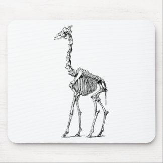 Giraffe Skeleton Mouse Pad