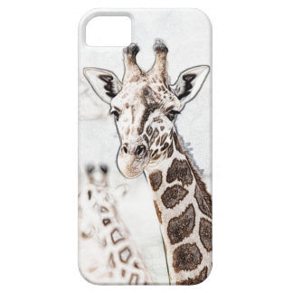 Giraffe Sketch Barely There iPhone 5 Case