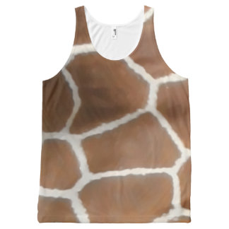 GIRAFFE SKIN All-Over PRINT SINGLET