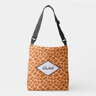 Giraffe Skin Pattern Exotic Wildlife Crossbody Bag