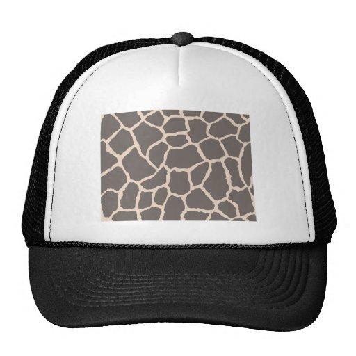 Giraffe Skin Pattern Mesh Hats