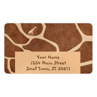 Giraffe Skin Pattern Surface Stains Lines Double-Sided Standard Business Cards (Pack Of 100)