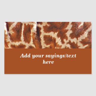 Giraffe Skin_ Rectangular Sticker