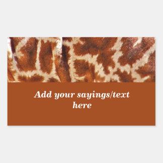 Giraffe Skin_ Rectangle Stickers